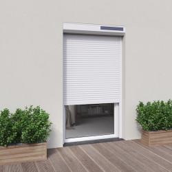 volet solaire blanc H 2m15 x L 1m20 lames ALU pour porte-fenêtre