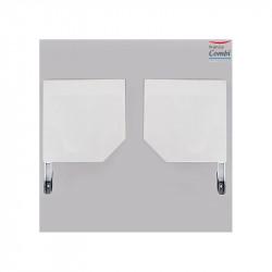 Consoles section 165 pour coffre de volet roulant pan coupé 45 ° blanc, la paire